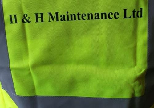 H and H Maintenance Ltd commercial building maintenance hi viz vest with company branding