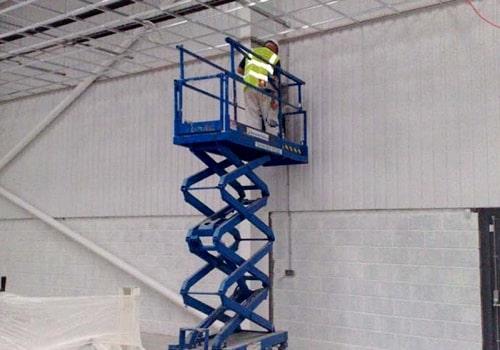 H and H Maintenance Ltd commercial building maintenance scissor lift