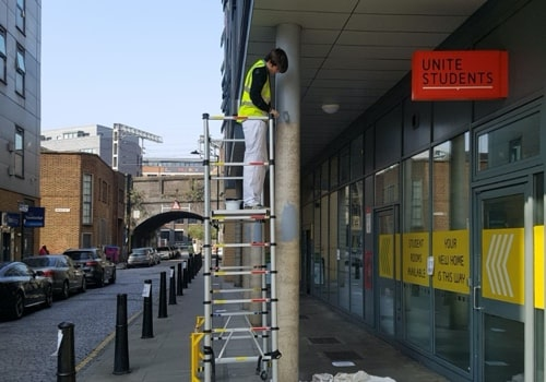 H and H Maintenance Ltd commercial building maintenance painting exterior columns